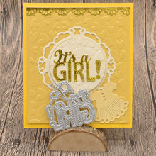 It's a girl/boy Letter Metal Cutting Dies Words for Scrapbooking Album Baby Card Making Paper Embossing Die Cuts