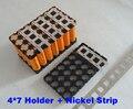 4P7S 18650 suporte da bateria e 4*2 tira níquel 4*7 li-ion 18650 titular Usado para 7 S 24 V 10Ah da bateria ou bateria de lítio 12Ah pack
