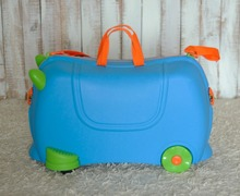 Children lovely trolley luggage bags with 4 wheels,kid storage travel luggage bags