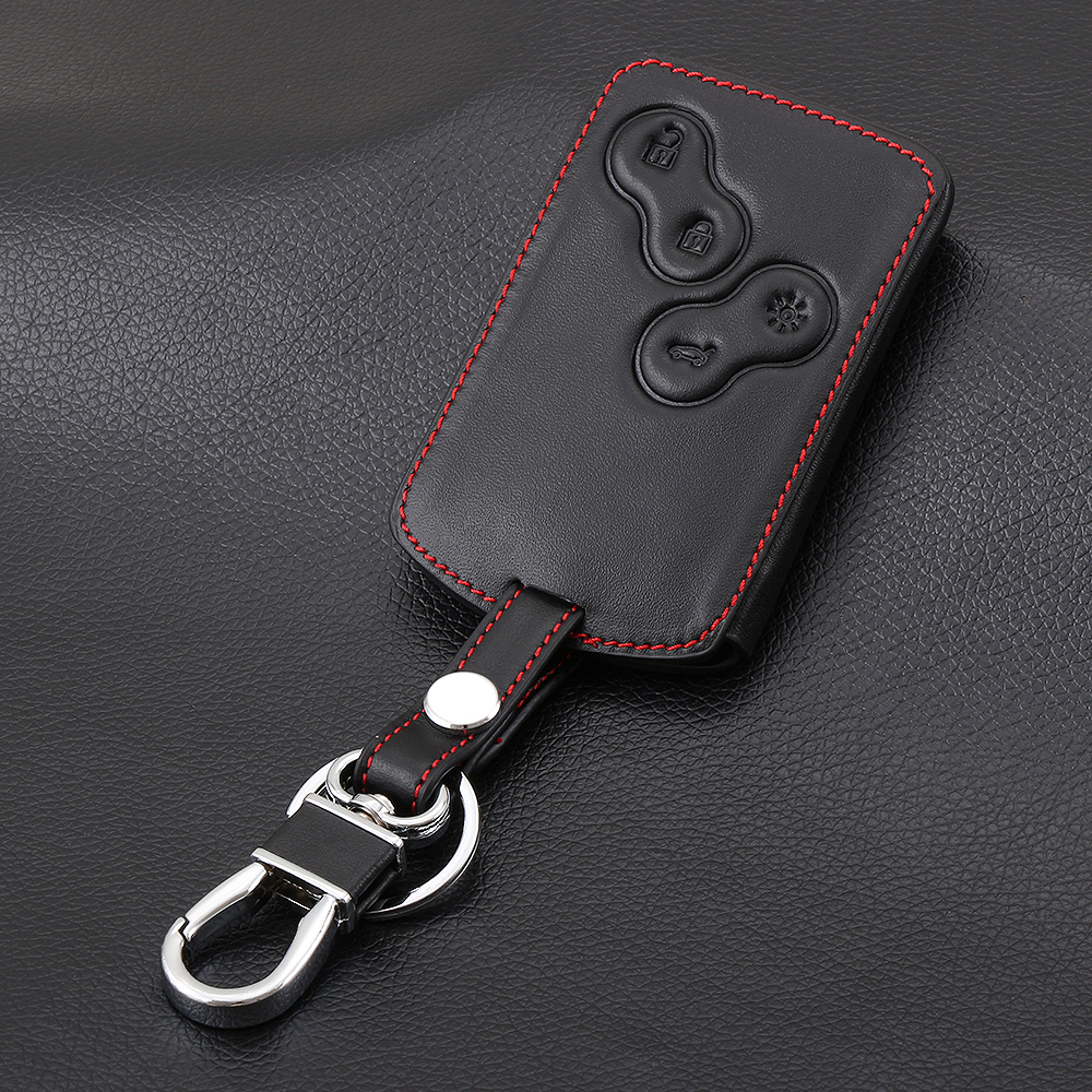 Image 3 - FIT FOR RENAULT SCENIC CLIO LAGUNA MEGANE CAPTUR KAPTUR KOLEOS DUSTER SANDERO TWINGO CASE FOB SHELL 4 BUTTON LEATHER KEY COVER-in Key Case for Car from Automobiles & Motorcycles