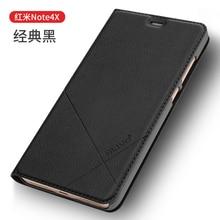 Xiaomi redmi note 4x case pu кожаный бизнес-серии откидная крышка для xiaomi redmi note 4x #0918 с отслеживая номером.