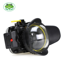 Seafrogs 40m/130ft TG5 Underwater  Case Diving Waterproof Housing for Olympus TG 5 Camera with Red Filter 67mm and Fisheye lens