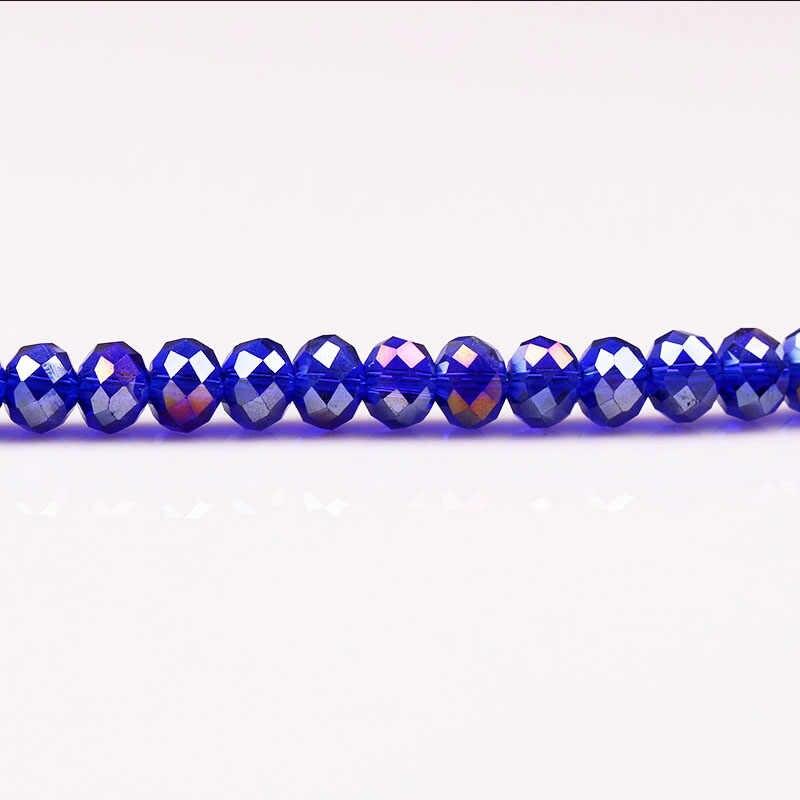 6 ملليمتر 100 قطعة/الوحدة متعدد الألوان زجاج كريستال الخرز قص الأوجه التشيكية الزجاج جولة هول الخرزة للأطفال diy مجوهرات جعل