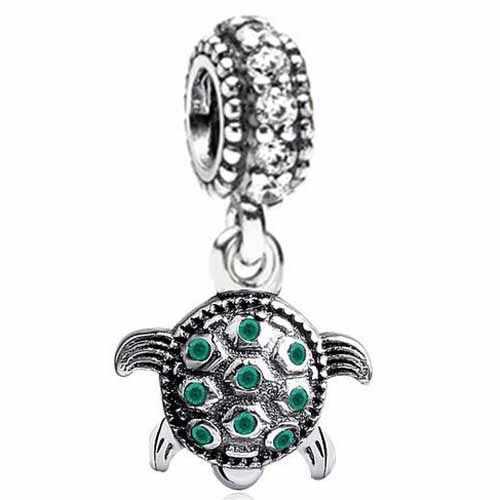 Lujoso cristal búho amor corazón y lazo esmaltado Arco Iris plano encanto cuentas ajuste Pandora encanto pulseras para mujeres que hacen joyas