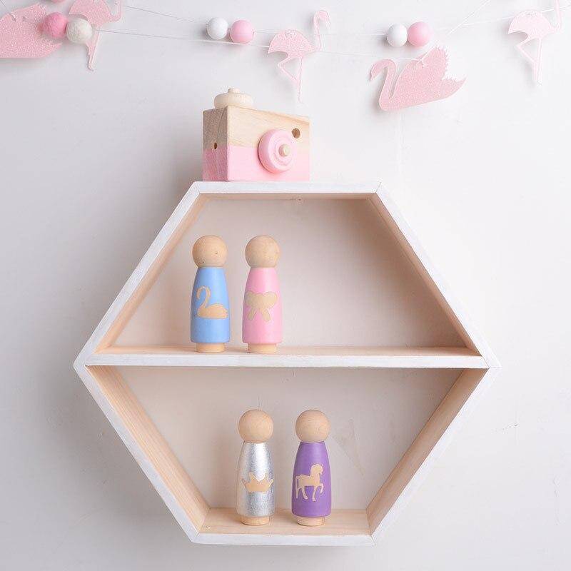Favourite Scandinavian Nursery Kids Room Decor Items: Nordic Style Nursery Wooden Wall Shelf Kids Room