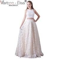 VARBOO ELSA Luxury Pearl Beaded Party Dress Hand Made Evening Dress 2017 Graduation Dress 2 Piece