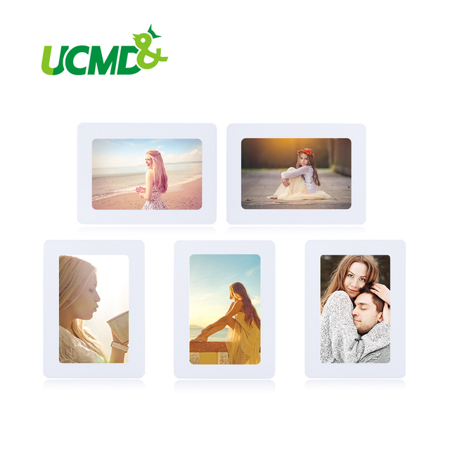 Magnetic Photo Frame Fridge Magnets Refrigerator Decor Flexible Multicolor Square Frame Picture Frames 5Pcs / Lot