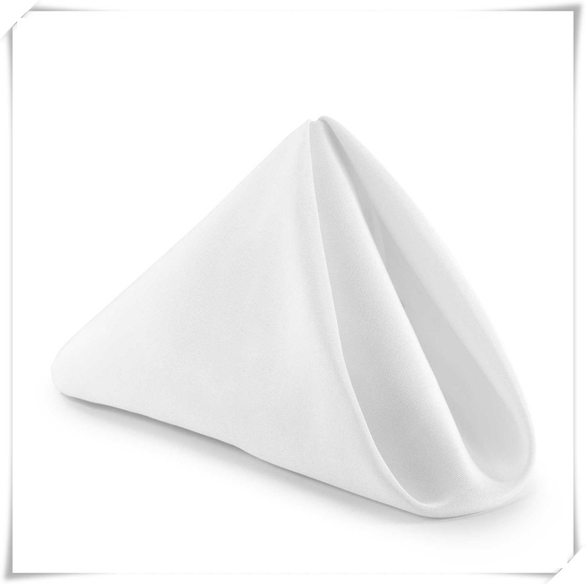 Free shipping polyester fabric table napkin for hotel/wedding