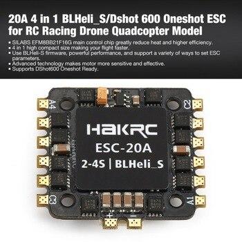 20A 4 en 1 2-4 S BLHeli_S/Dshot 600 Oneshot ESC régulateur de vitesse électronique pour Drone de course RC quadrirotor accessoires ht