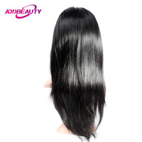 Addbeauty Lace Front Wig Virgin Brazilian Human Straight Baby Hair Unprocessed Pre Plucked Natural Hairline For Black Women
