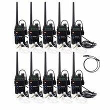 10 шт. наушник + 10 шт. walkie talkie retevis rt-5r 5 Вт 128ch увч + укв частота портативный радио comunicador коммуникатор a7105a
