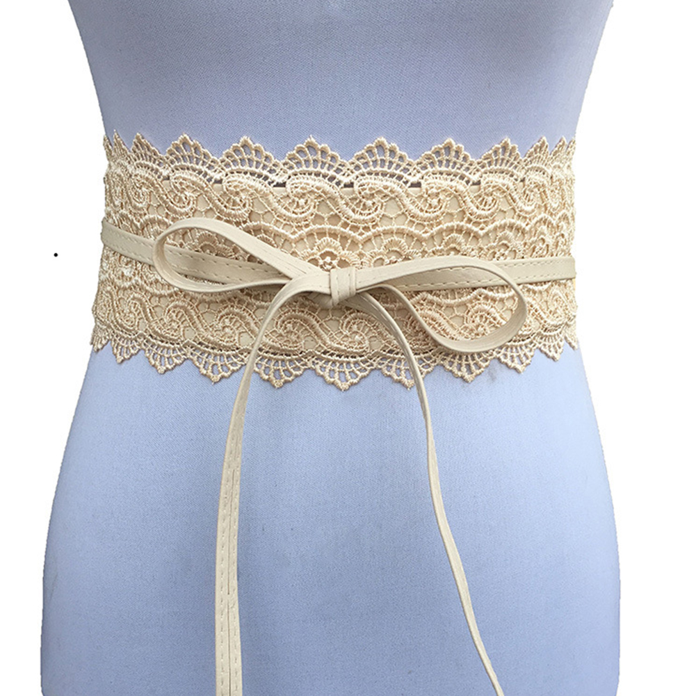 Women Wide Ladies Canvas Wasitband Wear Resistant  Belt Corset Belt Firmly Tie Fabala Exquisite Easy Matching Waist Belt