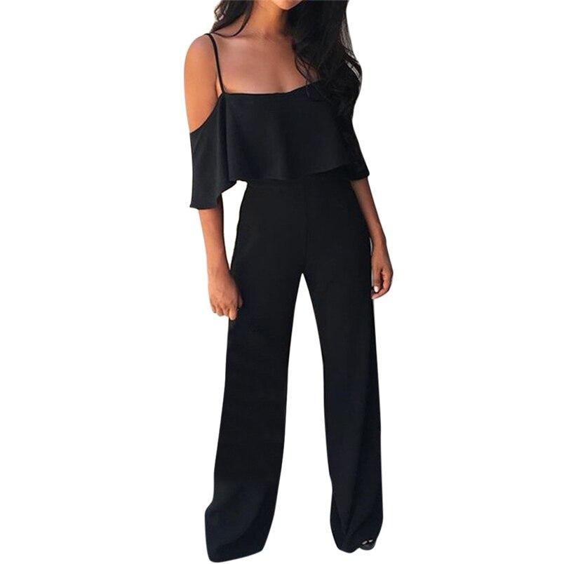 Jumpsuit Summer Women Long 2018 New Brand Hollow Out Bodysuits Sexy Clubwear Wide Legs Pants Elegant Jumpsuit combinai #J08 (20)