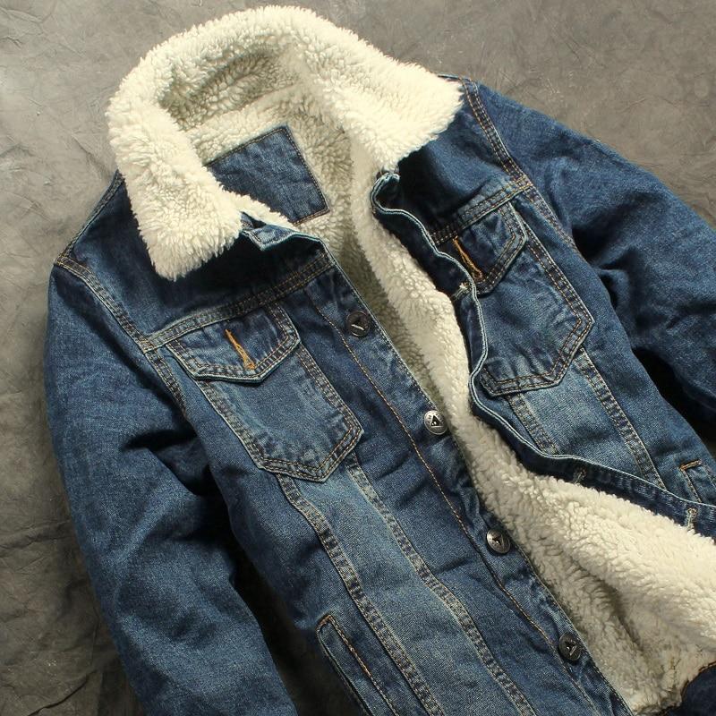 2019 herfst winter nieuwe heren bontvoering fleece jas mode slim fit - Herenkleding - Foto 4
