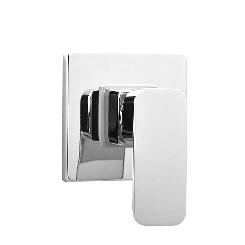Good quality bathroom brass material bright polished and chrome plated single handle in wall mounted shower mixer faucet valve mini brass ball valve panel mountable 450psi with lever handle chrome plated malexfemale npt