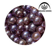 MADALENA SARARA 11-12mm AAA Perfectly Round Freshwater Pearl  Purple Pearl  Loose Bead Naked For Diy Jewelry Making