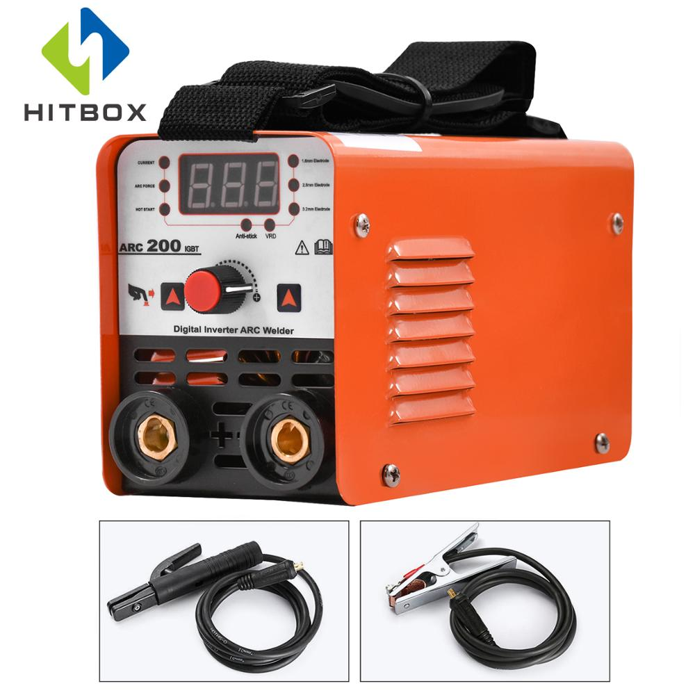 HITBOX Arc Welder MMA Stick ARC 200 Smart Control Auto Arc Welding Machine Anti Stick 1.6 3.2mm Rods 220V VRD Protection
