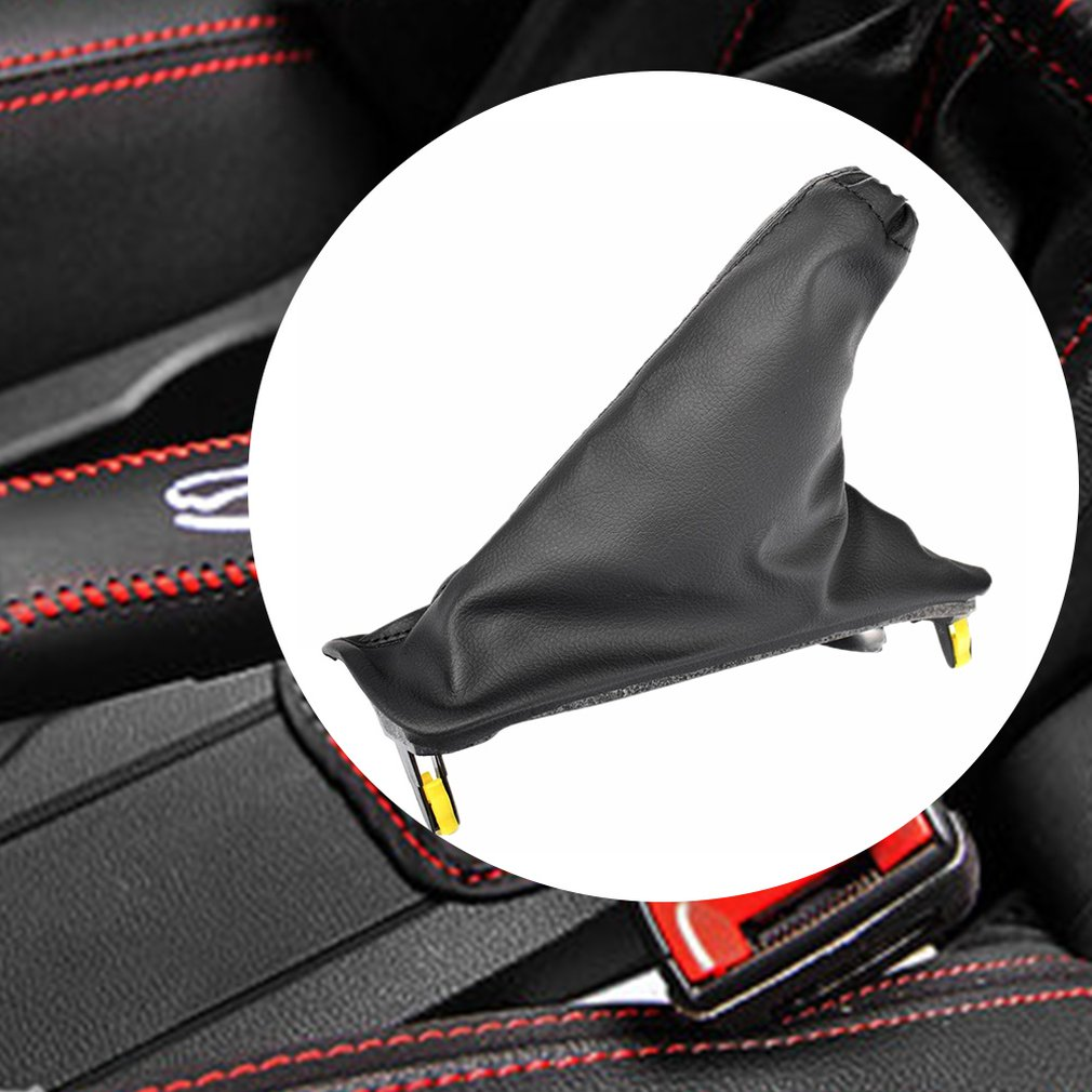 Handbrake Cover Black PU Leather Hand Brake Boot Dustproof For Ford Falcon FG FG-X 2008-2018 BG2A837A1S Car Styling