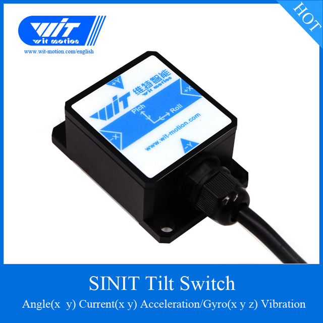 WitMotion SINIT Dual axis High Precision Tilt Angle Sensor Switch Current Output Inclinometer, IP67 Waterproof Anti Vibration