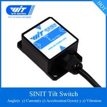 WitMotion SINIT interruptor de Sensor de ángulo de inclinación de alta precisión de doble eje Inclinómetro de salida de corriente, IP67 impermeable Anti vibración