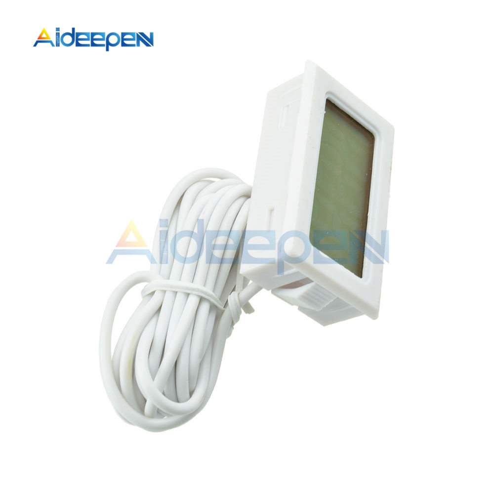 LCD Digital Thermometer Hygrometer for Freezer Refrigerator Fridge Temperature Sensor Humidity Meter Gauge Instruments Cable 12