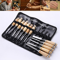 12pcs Manual Wood Carving Hand Chisel Tool Set Professional Carpenters Woodworking Carving Chisel HCS Hand Tools High Quality