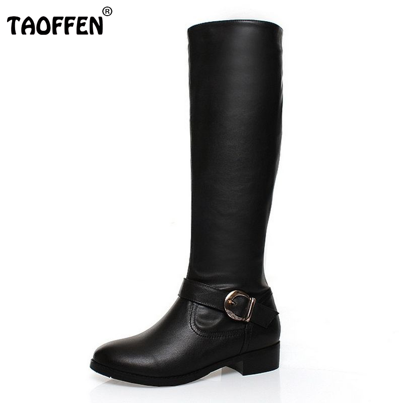 цены на size 32-42 women real genuine leather flat over knee boots fashion long boot winter botas feminina brand footwear shoes R2774 в интернет-магазинах
