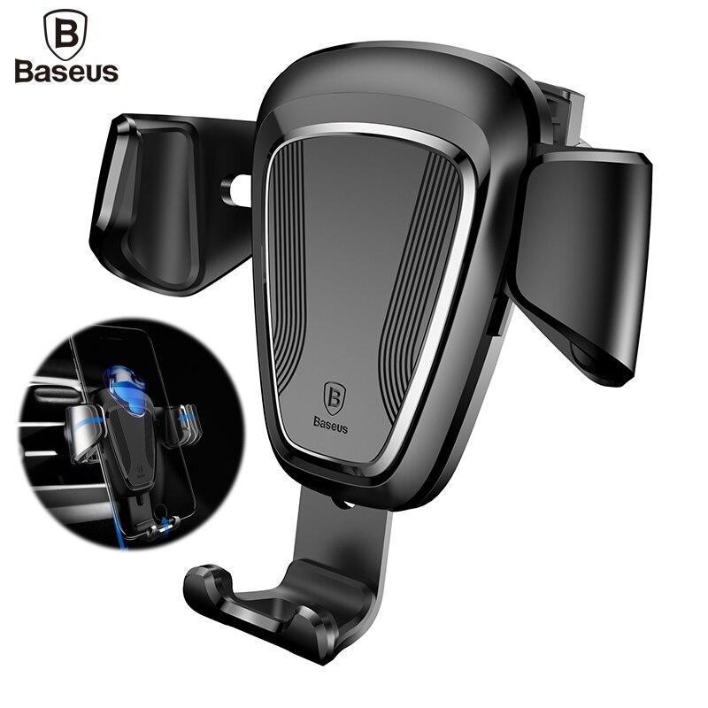 BASEUS Универсальный автомобильный держатель телефона для iPhone 7 6 6 S плюс Samsung <font><b>S8</b></font> S7 S6 Air Vent Mount мобильный телефон подставка автомобильный держател&#8230;