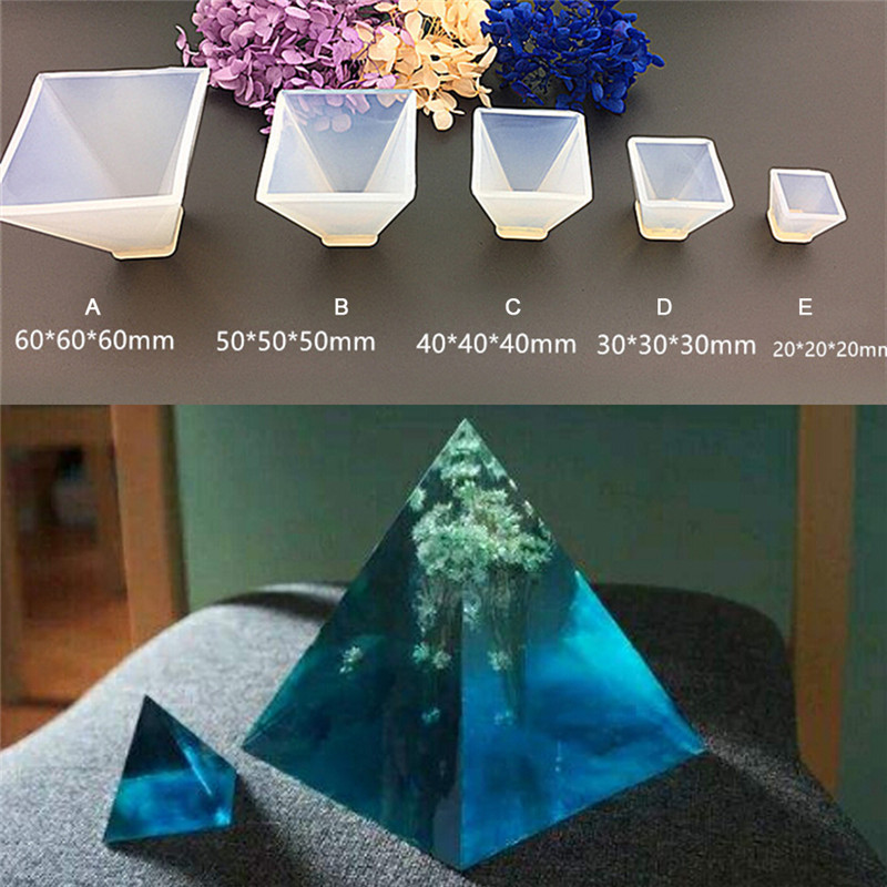 HOT Transparent Pyramid Silicone Mould DIY Resin Decorative Craft Jewelry Making Mold resin molds for jewelry