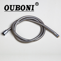 OUBONI Plumbing Hose Pull Out Hose 1500mm Polished Chrome 304 Stainless Steel 6011 Bathroom Kitchen Sink