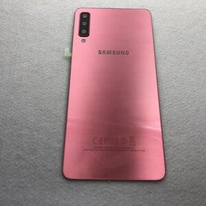 Image 4 - מקורי עבור Samsung Galaxy A7 2018 חזור סוללה כיסוי A750 מקרה A750F SM A750 אחורי דלת שיכון זכוכית פנל החלפת חלקים