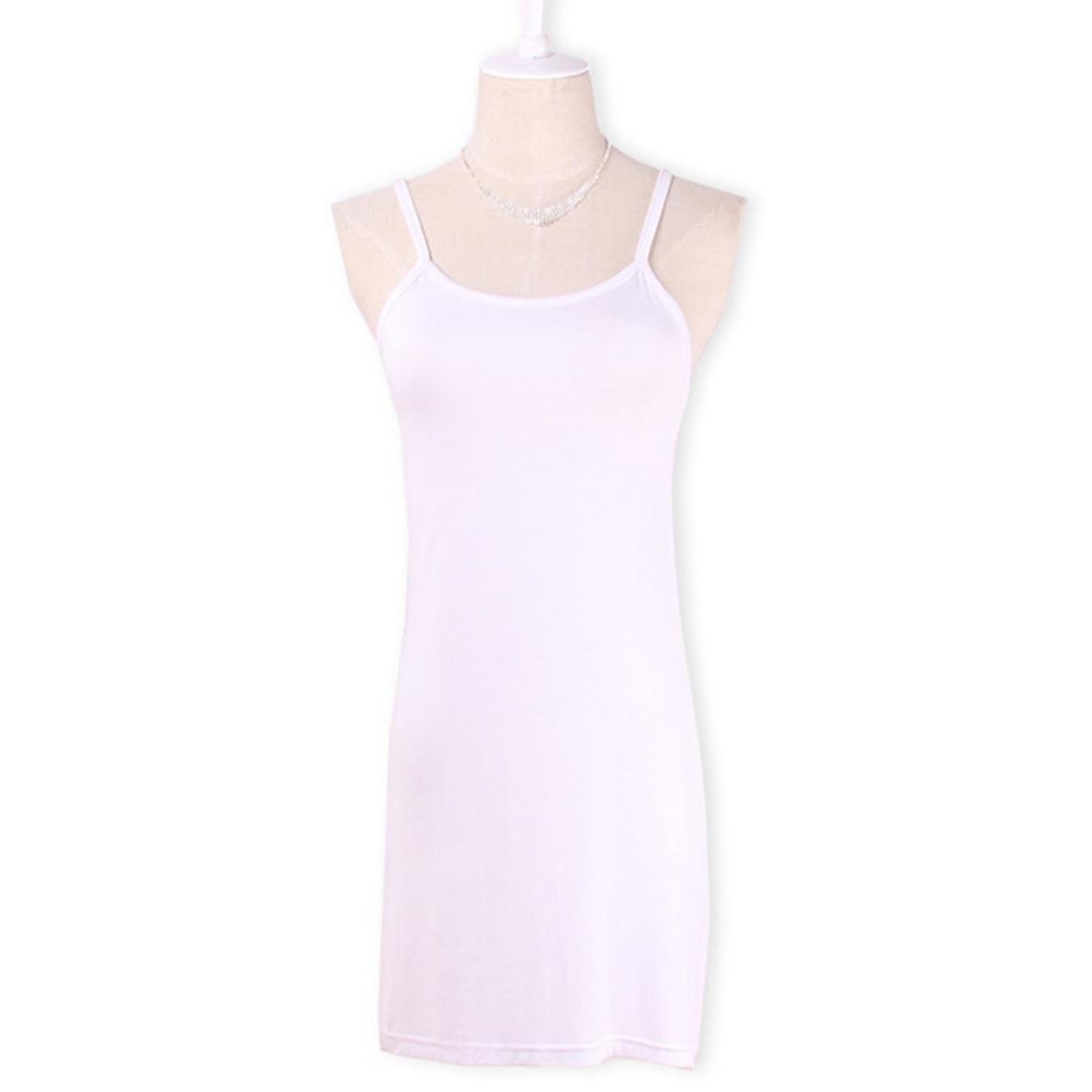 Новинка, Женская эластичная кофточка на бретельках, Длинный топ на бретелях, Мини Короткое платье, летнее повседневное сексуальное платье без рукавов для женщин - Цвет: Белый