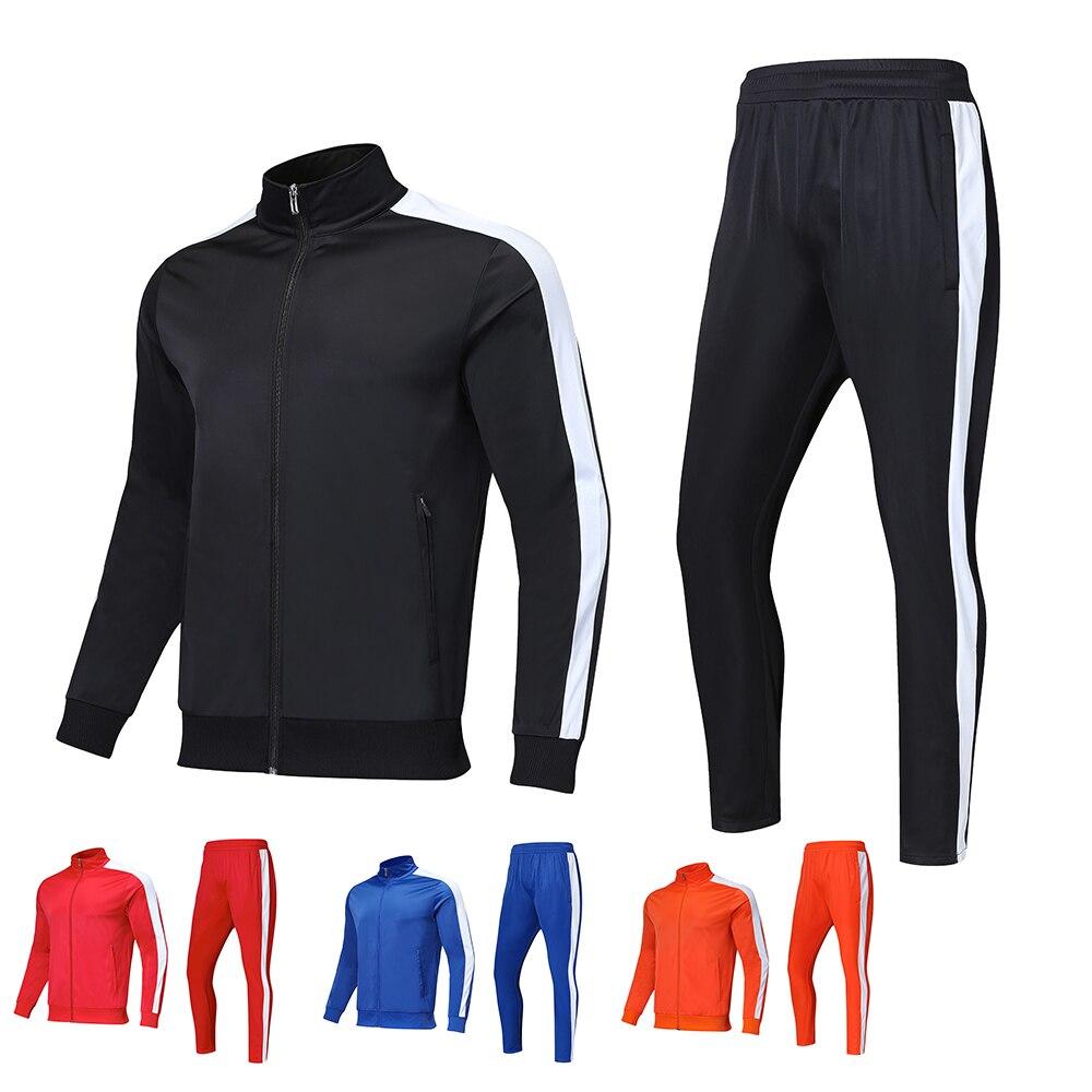 Hommes ensembles de course veste pantalon polaire, enfants Fitness football formation costumes, sport veste pantalon jogging Gym cyclisme survêtement