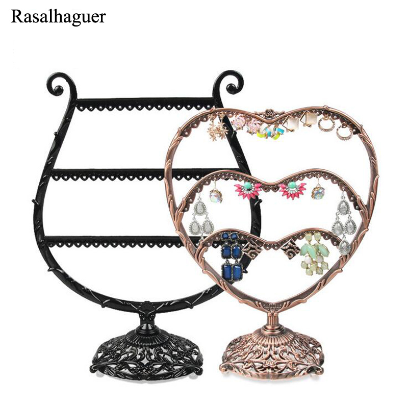 Fashion Jewelry Display Earring Holder Jewelry Organizer Storage Earring Display Stand For Earrings Rack Shelf Two Types