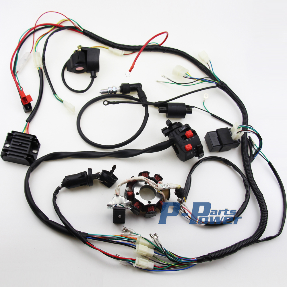 complete wiring harness reviews online shopping complete wiring complete electrics cdi wire harness for atv quad 300cc 250cc 200cc 150cc zongshen lifan