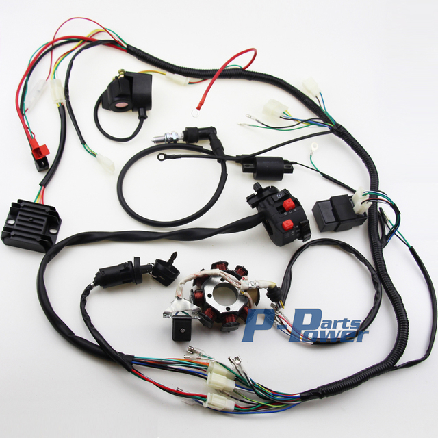 complete electrics cdi wire harness for atv quad 300cc 250cc 200cc off-road wiring harness complete electrics cdi wire harness for atv quad 300cc 250cc 200cc 150cc zongshen lifan