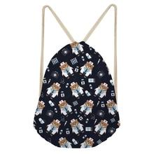Noisy Designs Cartoon Nurse Bear Printed Backpack For Teenage Shoulder Drawstring Bag Shoe Bag Mini Backpack Feminine Backpacks