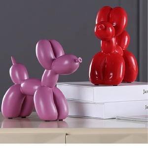 Image 4 - New Fashion resina palloncino cane artigianato scultura regali creativi moderno semplice decorazioni per la casa statue 8 colori ornamento da tavolo