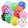 """12 """"50 pcs Polka Dot Balão de Látex 18 cores para Festa de Casamento Decoração de Festa De Aniversário Decoração de Hélio globos Engrossar balões"""