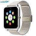 Relógio de pulso wearable dispositivos bluetooth smart watch z80 langtek para o telefone android com suporte de câmera cartão sim pk dz09 gt08