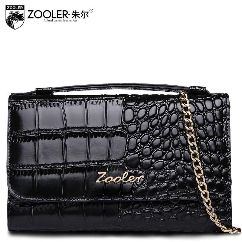 ФОТО ZOOLER Black Small Women Handbag Leather Alligator A Purse On A Chain Elegant Luxury Crossbosy Bolsas Feminina Spring Summer Hot