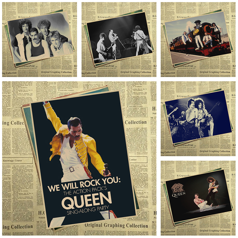 Queen Retro Poster Retro Kraft Paper Bar Cafe Home Decor Painting Wall Sticker