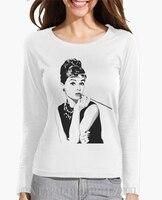 Autumn Winter New Arrival Long Sleeve Women Audrey Hepburn O Neck Print Knitted 3d Women Loose