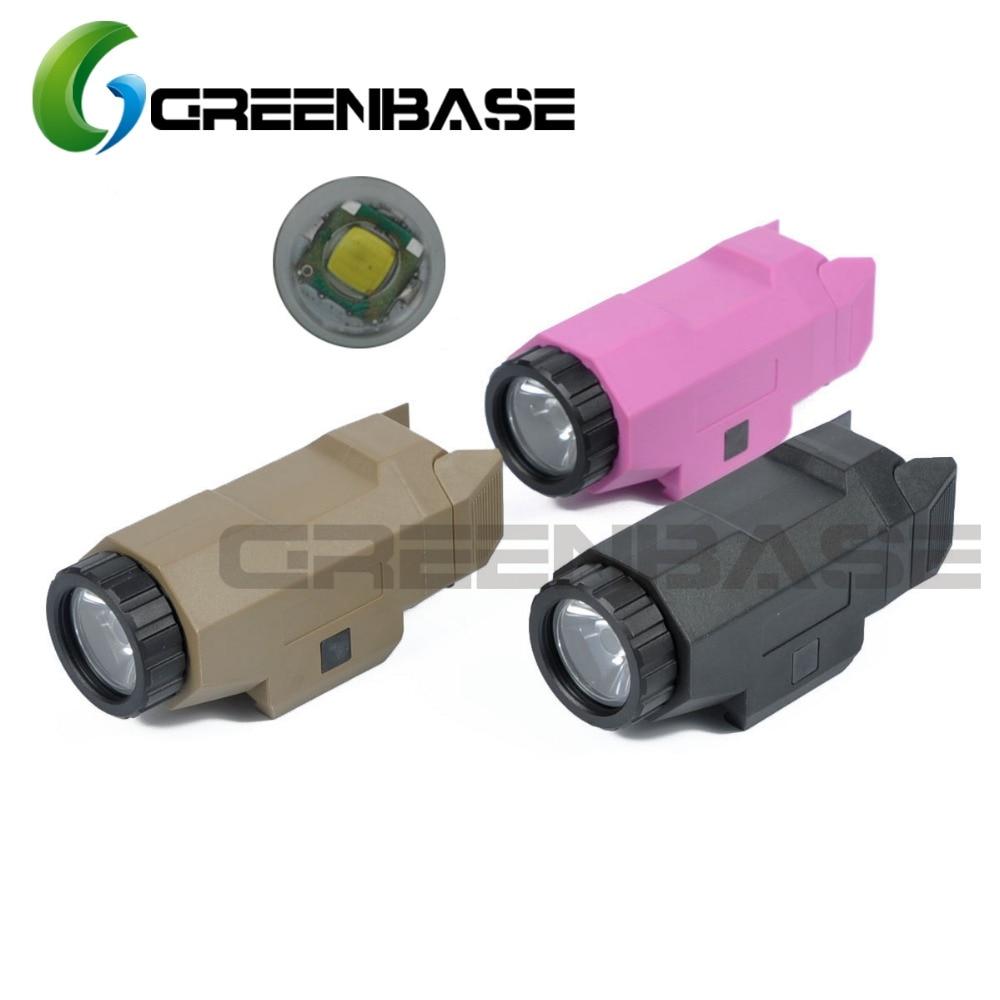 Greenbase APL Auto pistolet światło broń światła światła polowanie taktyczne światło noc ewolucja Mini LED biały latarka myśliwska w Oświetlenie na broń od Sport i rozrywka na AliExpress - 11.11_Double 11Singles' Day 1