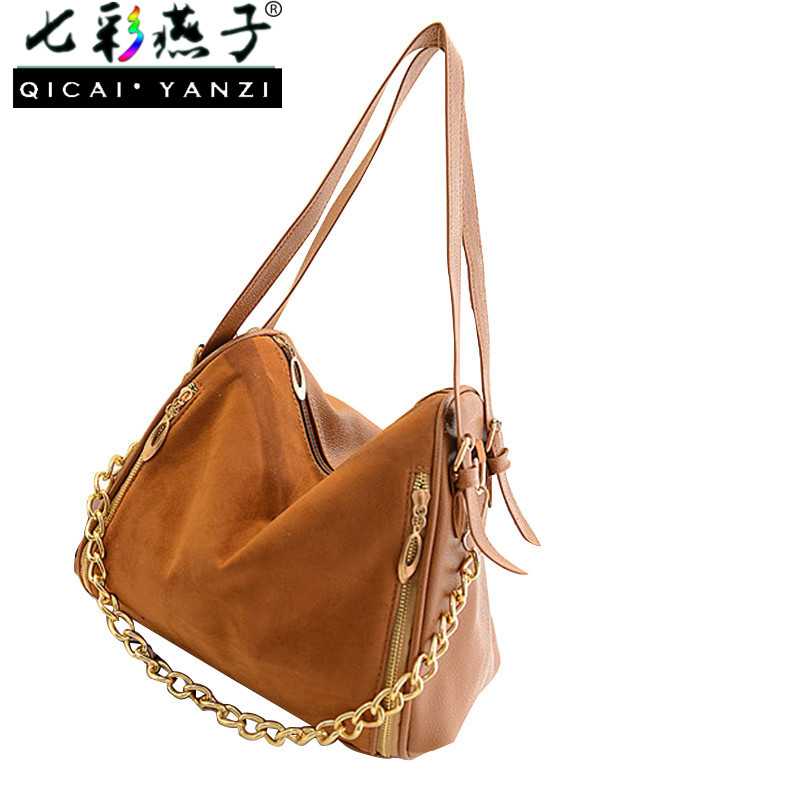 QICAI.YANZI 2017 New Luxurious Women Chain Messenger Big Hobo Bag Handbag Ladies Shoulder Bags Mujer Tote Purse PU Leather P170