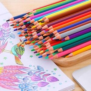 Image 2 - Deli Stationery Office Juego de lápices de colores al óleo, 48/72 colores, para dibujar bosquejo de pintura, caja de lata, material escolar para bellas artes profesional