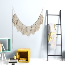 Creative Cotton Rope Bohemian Tapestries Wedding Gifts Curtain Macrame Simple Wall Art College Dorm Room Decoration
