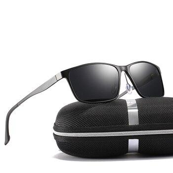 2018 رجل أسود/الأخضر/الشاي الألوان مستطيل الاستقطاب العقلية إطار النظارات الشمسية مع مربع شحن مجاني