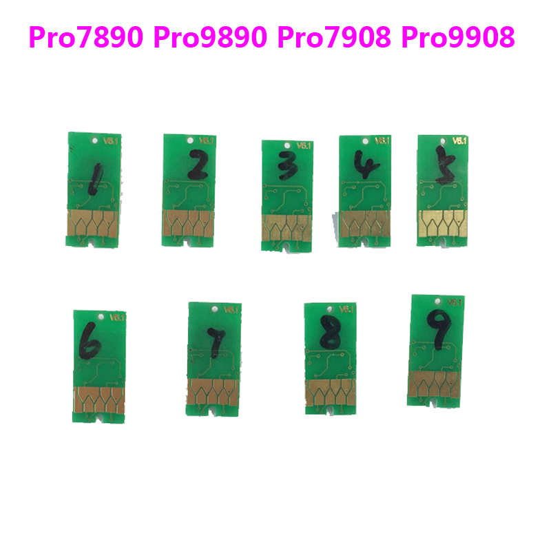 Free shipping! 700ml Resettable chip For Epson Stylus Pro 7890 9890 cartridge chips For Epson T6361 T6369|cartridge chip|chip epson|chip cartridge - title=