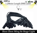10pcs/lot 1.2 Meters length 3-pin signal connection DMX cable for stage light, stage light accessories